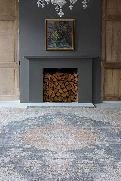 Fill empty fireplaces with logs
