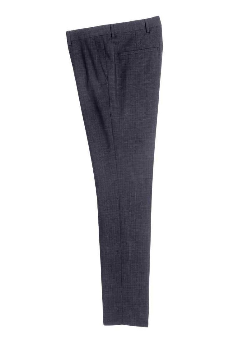 H&M Marled wool suit trousers