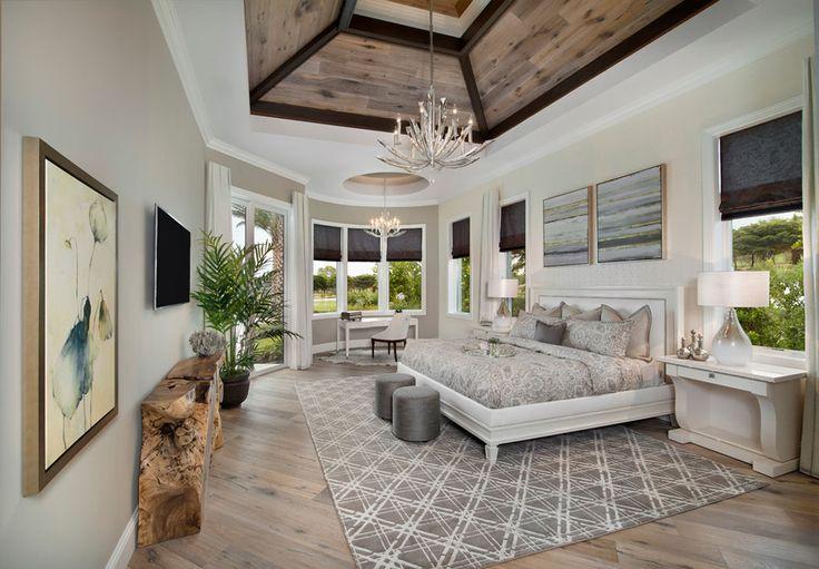 La suite des maitres située à l'étage au design moderne et épuré de cette villa de rêve