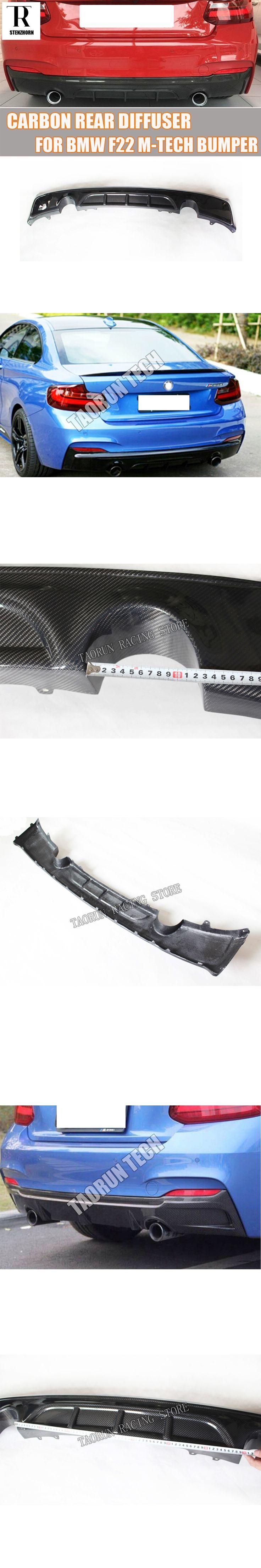 F22 TMS Style Carbon Fiber Rear Bumper Diffuser Lip Spoiler for BMW F22 M235i M-tech M-sport Bumper 2014 - 2016
