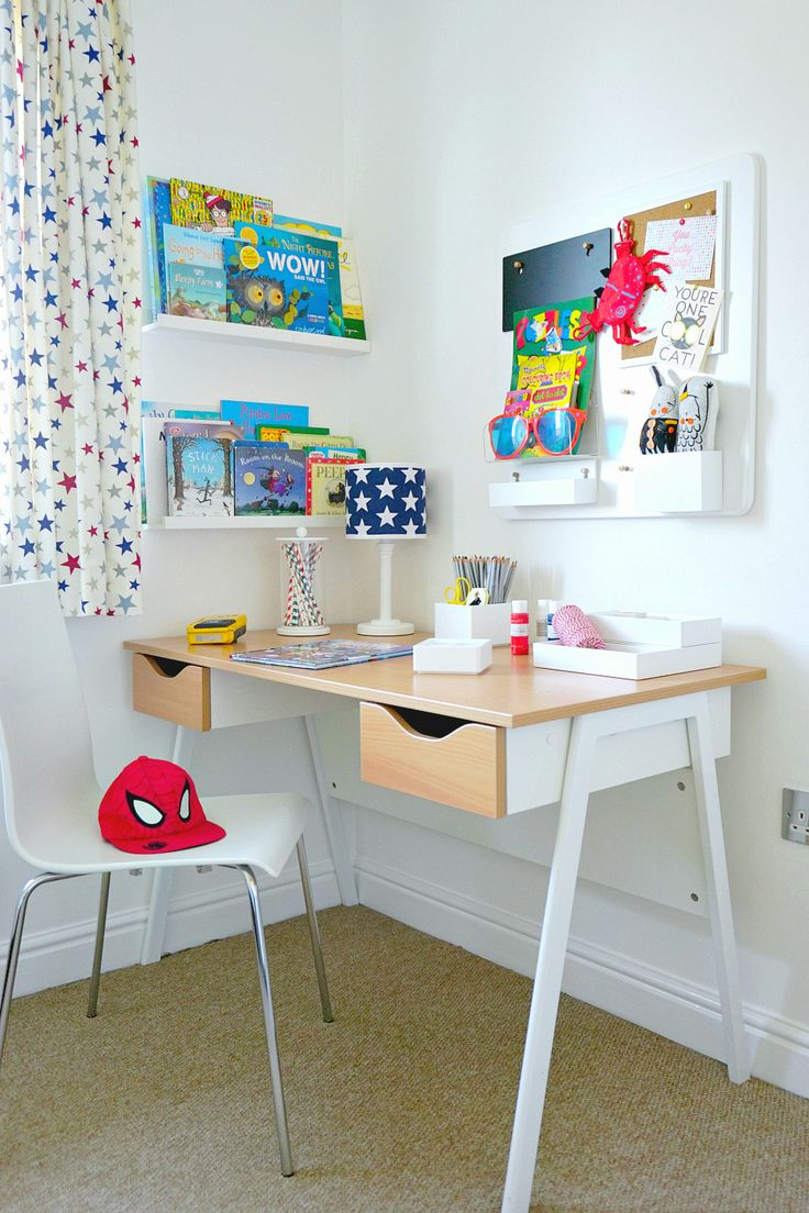 The Ordinary Lovely: The perfect desk/study area for a child's bedroom.