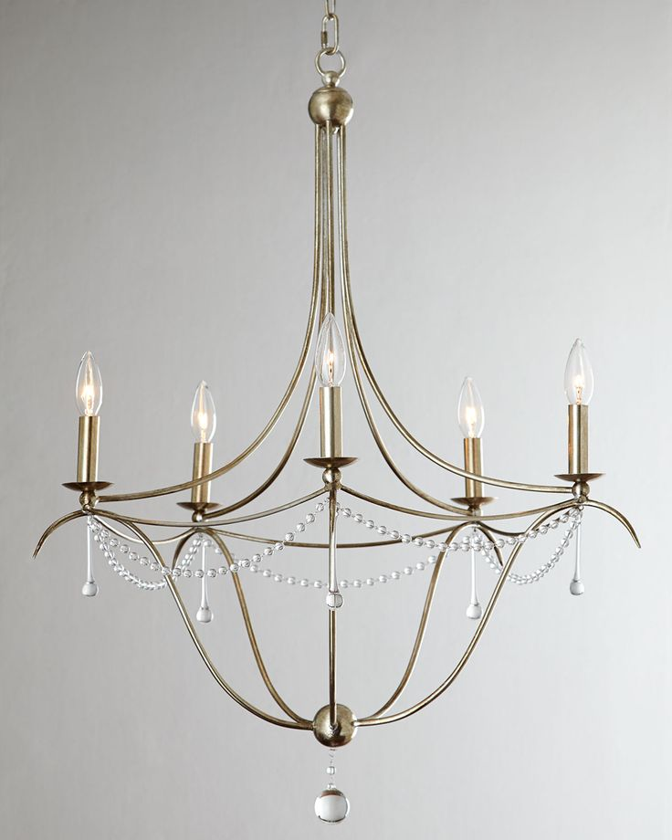 Simple Elegance Five Light Chandelier Clear