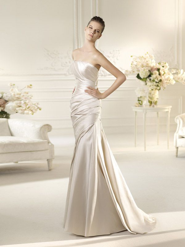 Pronovias White One collection available at www.dikelli.com.au