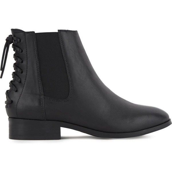 Aldo Boudinot leather Chelsea boots (139 AUD) ❤ liked on Polyvore featuring shoes, boots, aldo boots, black chelsea boots, aldo shoes, black block heel boots and shearling-lined boots