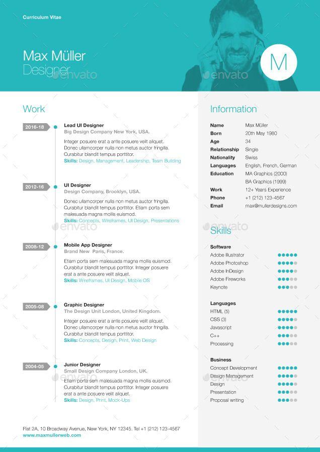 Neue Swiss Resume Cv Resume Cv Resume Resume Templates