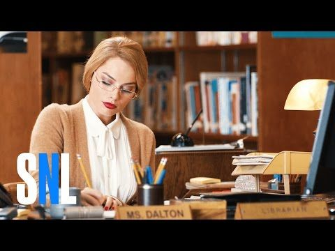 awesome Margot Robbie Plays a Sexy Librarian Gone Wrong on 'Saturday Night Live' Season Premiere