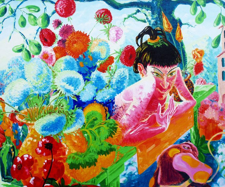 Flower girl. Canvas, oil, 100х120, 2005.