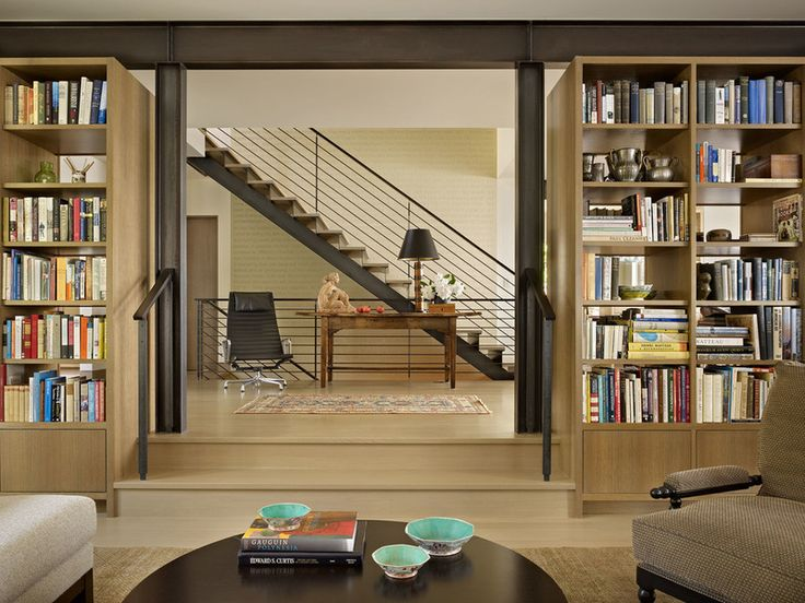Book House By DeForest Architects, Living Room, Bookshelves