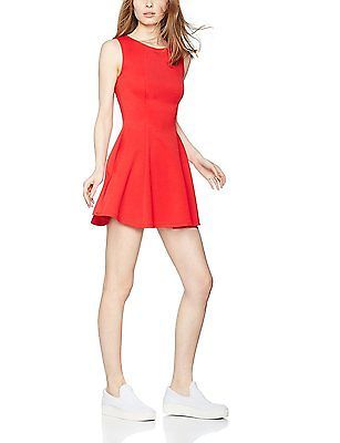 X-Large, Red, FIND Women's Flippy Scuba Dress NEW