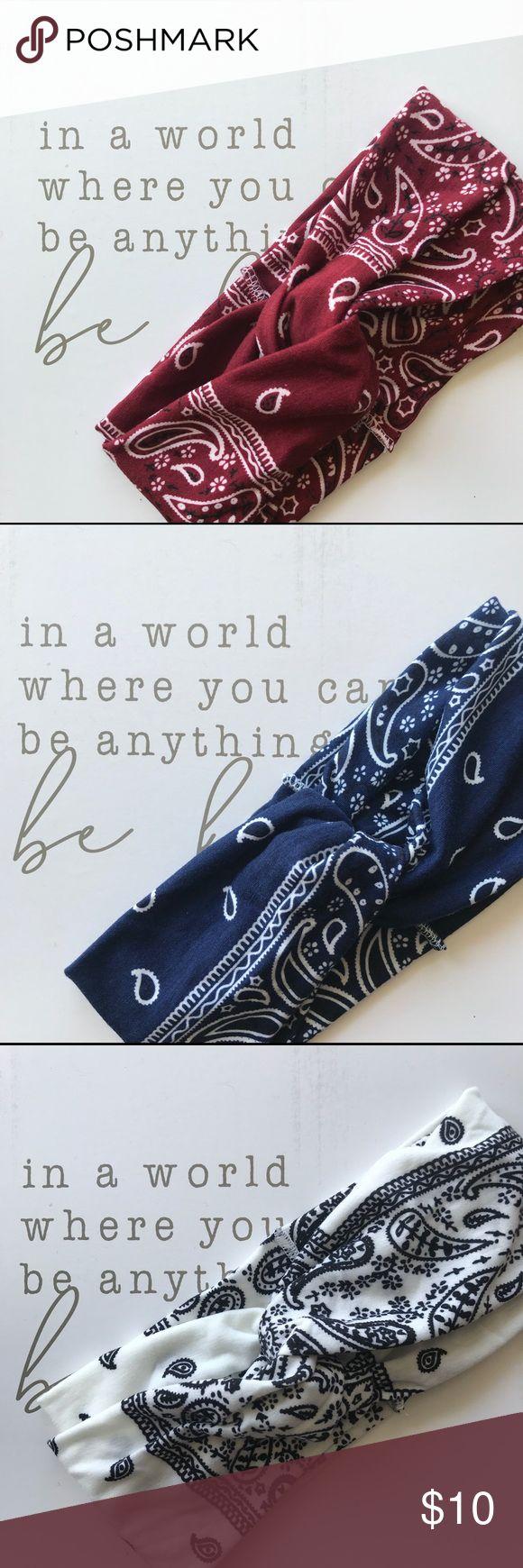 🌳twisted yoga bandana print headband🌳 Bandana paisley print soft stretch cotton twist yoga headband  Super soft stretch comfortable cotton  Choo...