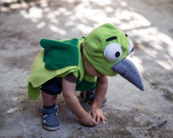Green Parrot Costume, Halloween Bird Costume, Party ...