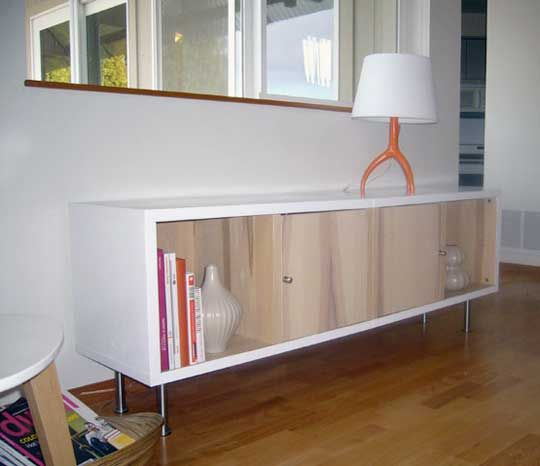14 Modern Affordable Ikea Kitchen Makeovers: Tyler's IKEA Traby Credenza Hack