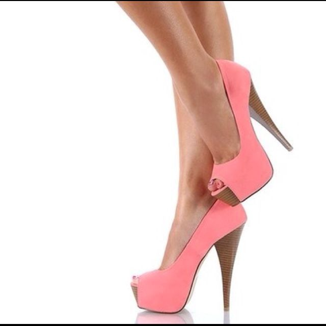 lovePeep Toe Pumps, Shoes Colors, Pink Heels, Pink Pump, Ahhhh, Adorable, High Heels, Pink Shoes, Peep Toes