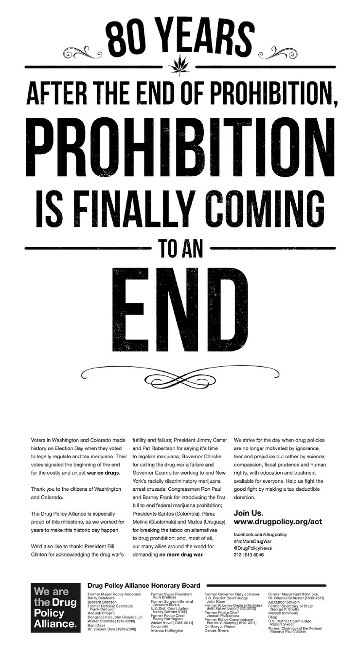 an analysis of the prohibition of marijuana The rand drug policy research center has provided objective analysis and research to the shift from punitive prohibition to legalizing marijuana at the.
