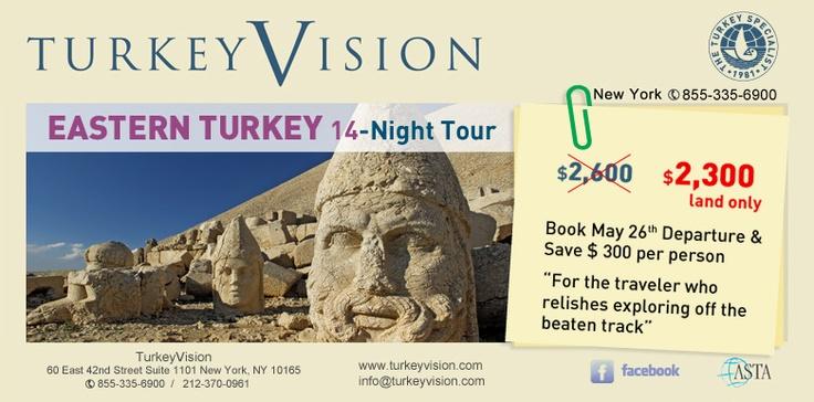 14 Nights in Eastern Turkey, for the traveler who relishes exploring off the baten track, this tour offers charms of a rustic region. The tour includes the visit of the following locations: Istanbul - Trabzon - Rize - Yusufeli - Barhal - Osk Vank - Erzurum - Ani - Dogubeyazit - Van - Akdamar - Ahlat - Bitlis - Diyarbakir - Hasankeyf - Midyat - Mardin - Harran - Urfa - Nemrut Dag - Halfeti - Zeugma - Gaziantep - Antioch - Tarsus - Adana