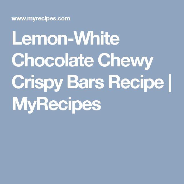 Lemon-White Chocolate Chewy Crispy Bars Recipe | MyRecipes