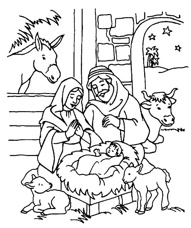 free bible christmas coloring pages | 9 best Nativity images on Pinterest | Christmas nativity ...