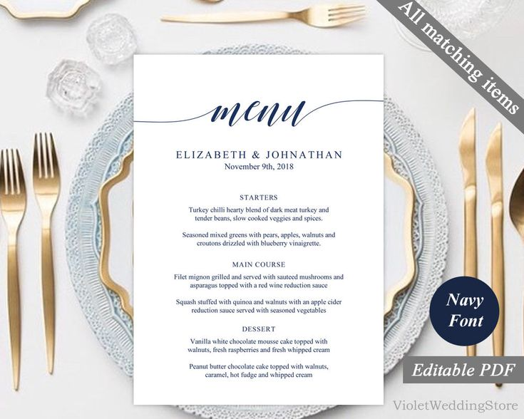 Best 25+ Wedding menu template ideas on Pinterest Free printable - formal dinner menu template