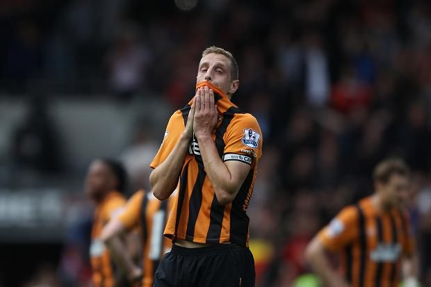 Michael Dawson Hull City 0 Manchester United 0 There is plenty Hull City supporters would have stomached to secure another final day escape act in the Barclays Premier League – okay, maybe not a name change to Hull Tigers, but certainly another spot of cringe-worthy karaoke – but, alas, it was not to be. Newcastle United's 2-0 victory against West Ham United would have rendered Hull's result meaningless, regardless of whether they had won, although there were so many near misses at the KC…