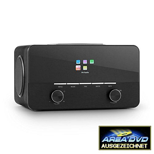 deals week auna connect 150 bk 21 internet radio media player stylish with alarm clock remote