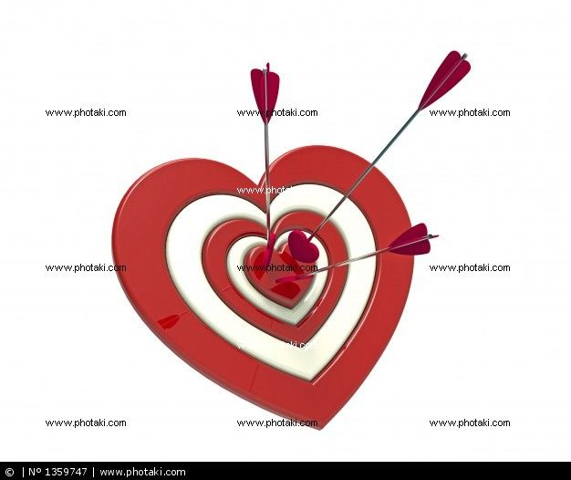 http://www.photaki.com/picture-shaped-target-heart-and-the-arrow_1359747.htm