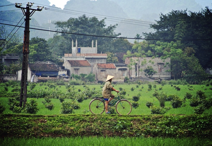 Cycling rural countryside, North Vietnam, photo by Millie Brown