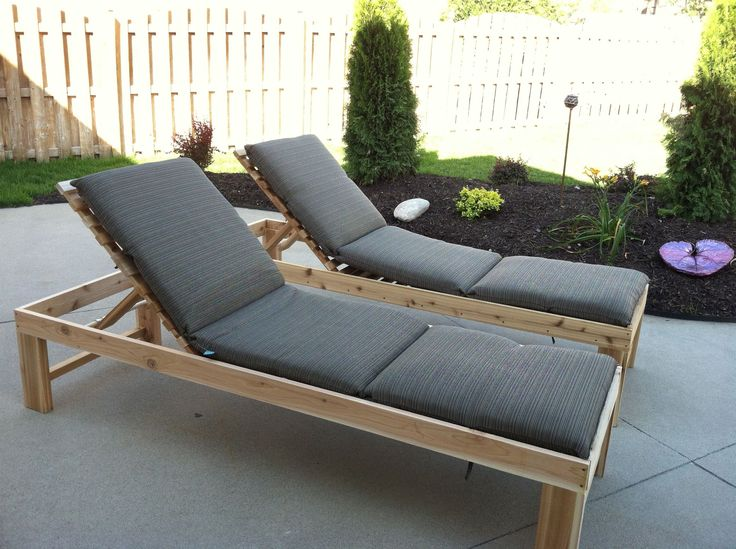 Outdoor Chaise Lounge | Do It Yourself Home Projects from Ana White