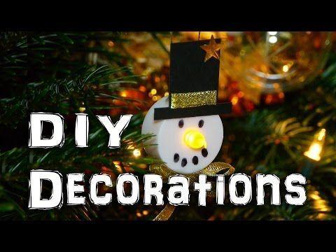 DIY Snowman Decorations - Christmas Holidays Craft Idea - YouTube