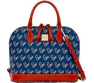 Dooney & Bourke NFL Texans Zip Zip Satchel