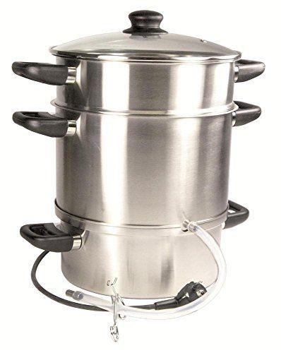 Duhalle 10035 Extracteur de Jus/Légumes Electrique Inox 26 x 26 x 35 cm: couvercle en verre puissance 1500W Utilisation: extraction de jus…