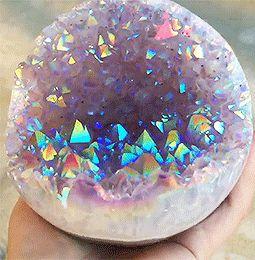Crystal Healing — sensorys: amethyst aura geode!
