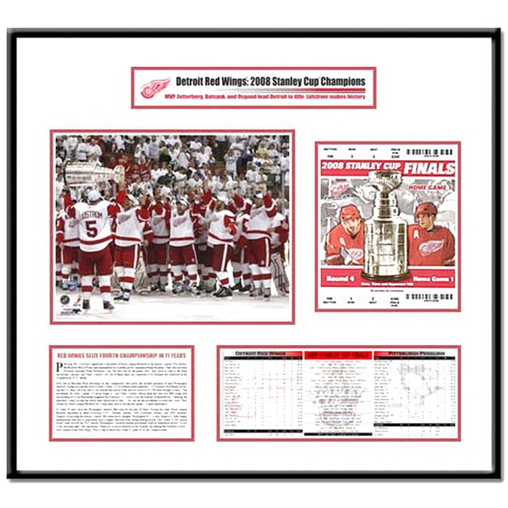 Detroit Red Wings 2008 Stanley Cup Finals Lidstrom Hoists Cup Ticket Frame - $135.99