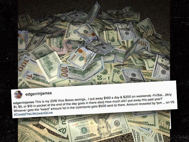 Edgerrin James' Money Management System ... I Keep $40k In a Box (Photo)