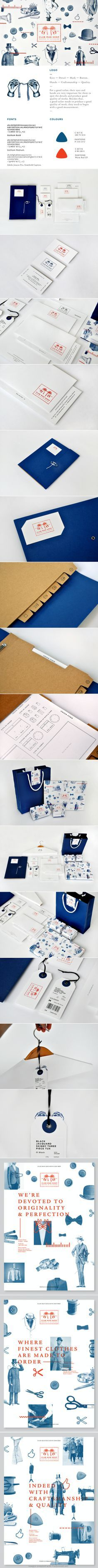 Club Man Shop on Behance. Red, white and blue #packaging #brand #business
