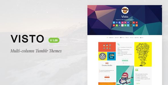 Visto | Multi-column , Responsive Tumblr Theme