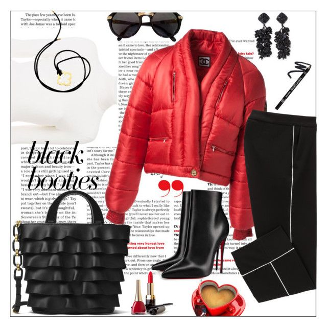 """""""Black booties..."""" by nihal-imsk-cam on Polyvore featuring moda, See by Chloé, Michael Kors, Cartier, Chanel, Christian Louboutin ve NOIR Sachin + Babi"""