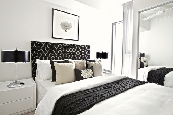Lotus black rectangle cushion
