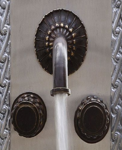 Rustica House - $390 - comes in verdi greeen, other colours - colonial hacienda bath wall bronze faucet