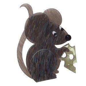 Erstwilder 'THE Manhattan Mouse' Grey Brooch Free Gift Discounts Apply | eBay
