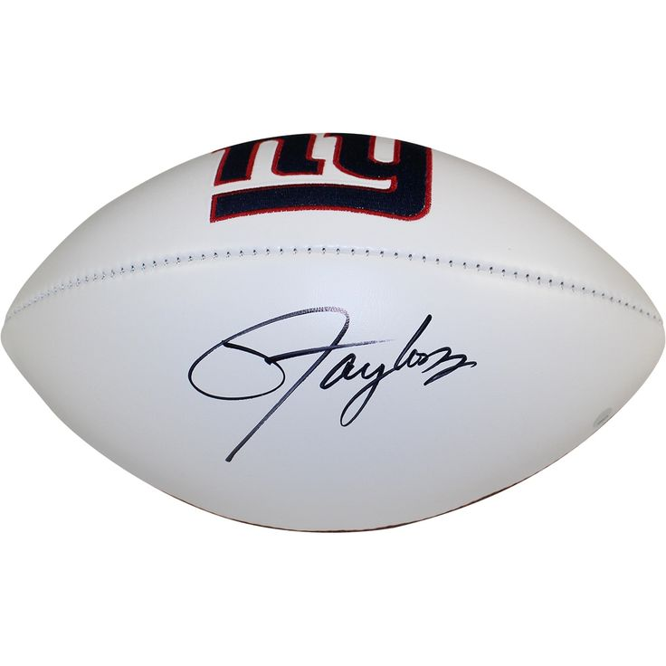 Steiner Lawrence Taylor Signed New York Giants White Panel Jarden Signature Football