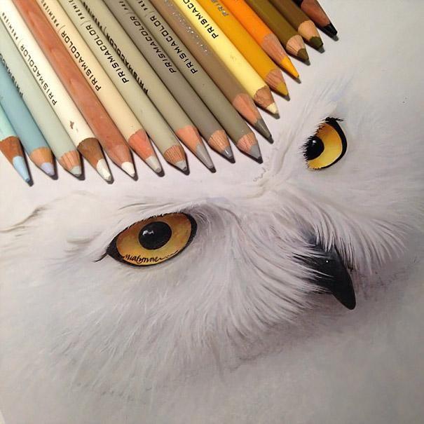 Karla Mialynne e seus desenhos realistas feitos com lápis de cor - Designerd