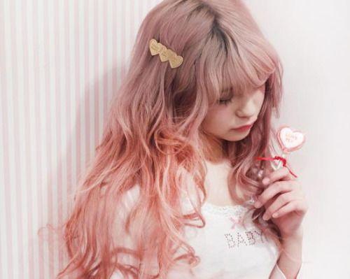 #pink hair #dyed hair