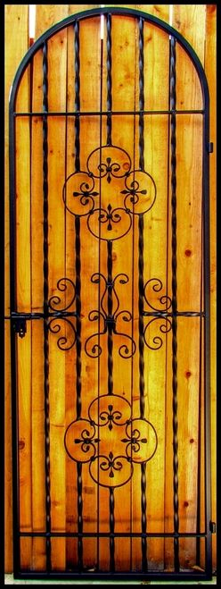 Iron Wine Cellar Door or Gate - Rosette & Scroll - Many sizes - Handmade in the USA - Custom built just for you