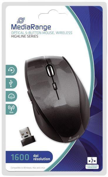 MediaRange Optische 5-Tasten , Funk-Maus PC Maus, Highline, schwarz/ grau  https://www.hood.de/i/mediarange-optische-5-tasten-funk-maus-pc-maus-highline-schwarz-grau-67663295.htm
