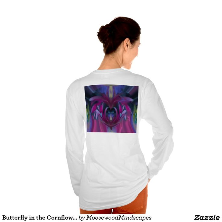 Butterfly in the Cornflowers No 3 T-Shirt Back