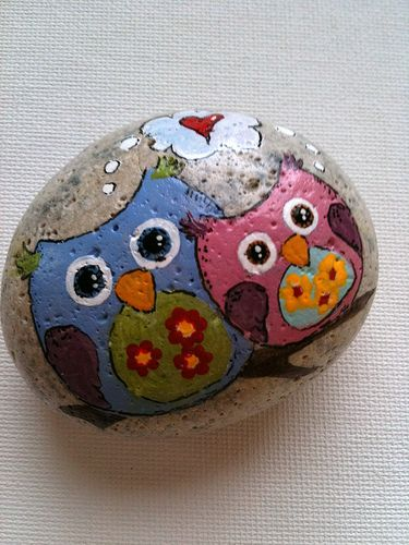 Hand Painted Rocks. my friend Maddie R. would love this!!!!!!!!!!!!!!!!!!!!!