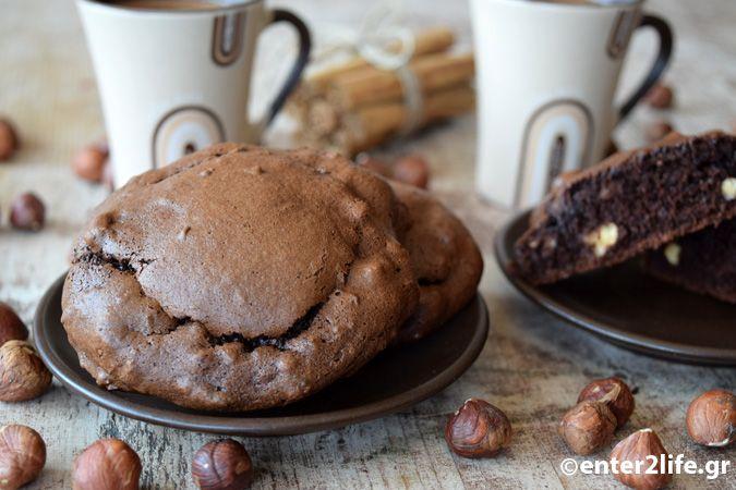 Σοκολατένια μπισκότα πρωτεΐνης με φουντούκια χωρίς αλεύρι – enter2life.gr