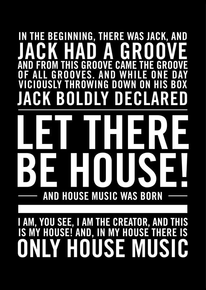 house #music #poster This original poster design was created