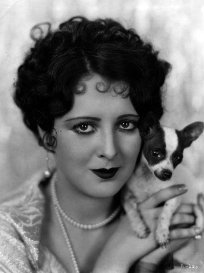 Billie Dove and a little friend - c. 1920s