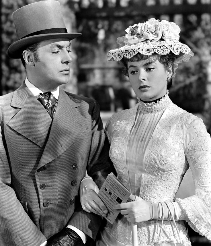 With Charles Boyer in GASLIGHT (1944).  Actress Ingrid Bergman won the Best Actress Oscar for her role in this film!
